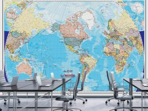 World Map (French Version) 12' x 8' (3,66m x 2,44m)