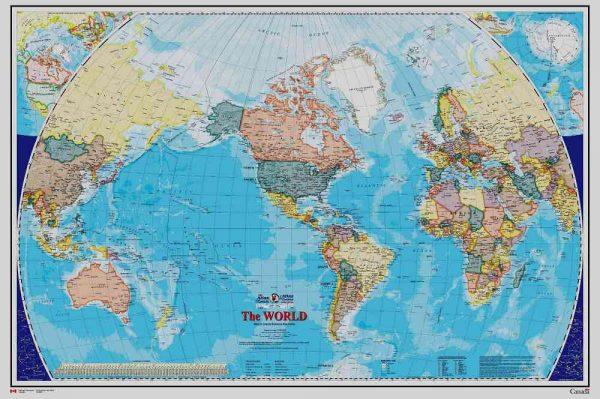 World Map (English Version) 12' x 8' (3,66m x 2,44m)