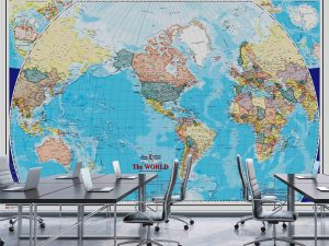 World Map (English Version) 12' x 8' (3,66m x 2,44m)
