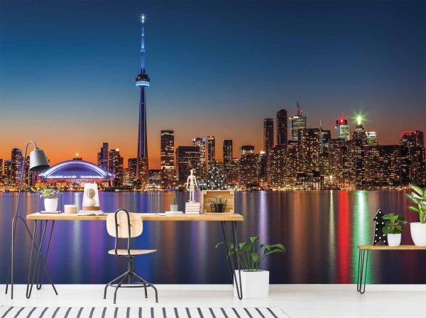 Toronto at Night 12' x 8' (3,66m x 2,44m)