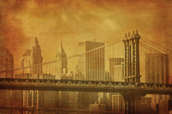 Brooklyn Bridge in New York City 12' x 8' (3,66m x 2,44m)
