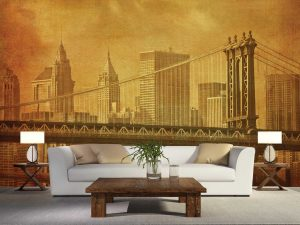 Brooklyn Bridge in New York City 12' x 8' (3,66m x 2,44m)