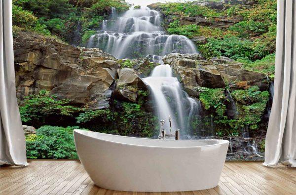 Waterfalls at Reunion Island 12' x 8' (3,66m x 2,44m)