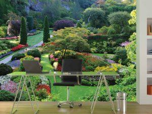 The Butchart Gardens, Victoria, British Columbia, Canada 12' x 8' (3,66m x 2,44m)