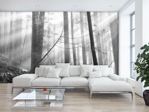 Old Forest (Black and White) 15' x 9' (4,57m x 2,75m)