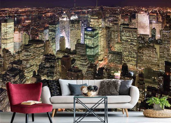 Manhattan at Night 12' x 8' (3,66m x 2,44m)