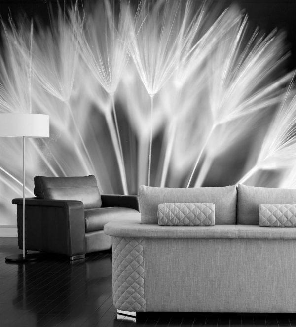 Dandelion (Black and White) 10.5' x 8' (3,20m x 2,44m)