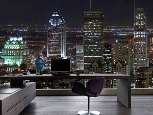Montreal at Night 12' x 8' (3,66m x 2,44m)