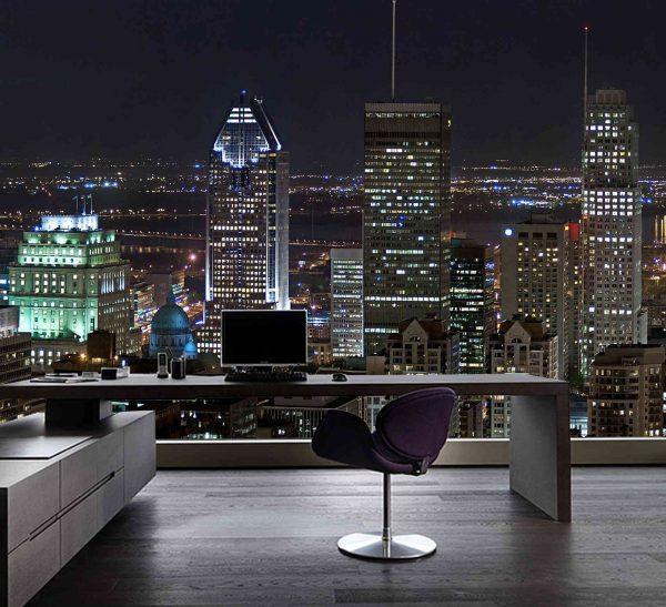 Montreal at Night 12' x 8' (3,66m x 2,44m)