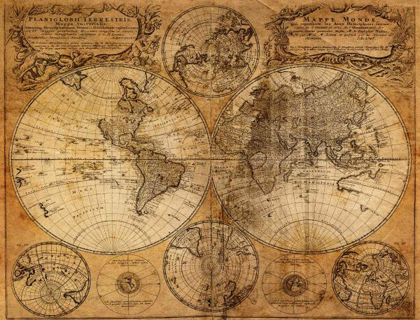 Old Map 1746 10.5' x 8' (3,20m x 2,44m)
