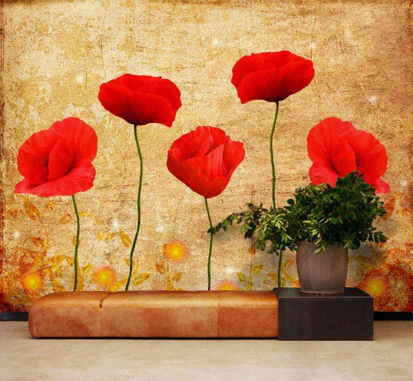 Poppies 10.5' x 8' (3,20m x 2,44m)