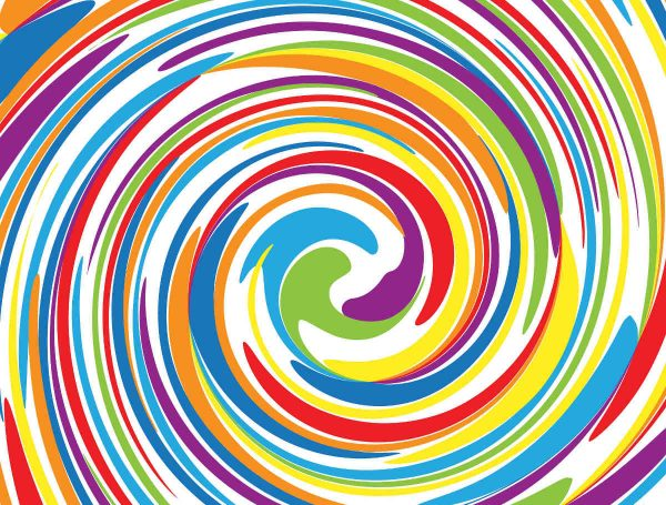 Multi Color Swirl 10.5' x 8' (3,20m x 2,44m)