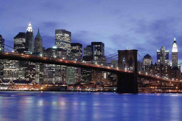 Brooklyn Bridge at Night 12' x 8' (3,66m x 2,44m)