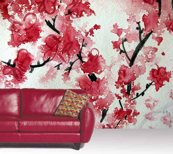 Cherry Blossom Aquarelle 10.5' x 8' (3,20m x 2,44m)