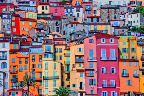 Village of Menton in Provence, France 12' x 8' (3,66m x 2,44m)