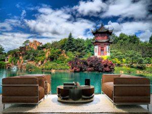 Chinese Garden, Botanical Garden in Montreal 12' x 8' (3,66m x 2,44m)