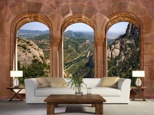 View from the Monastery of Montserrat, Spain 12' x 8' (3,66m x 2,44m)