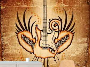 Grunge Winged Guitar 6' x 8' (1,83m x 2,44m)