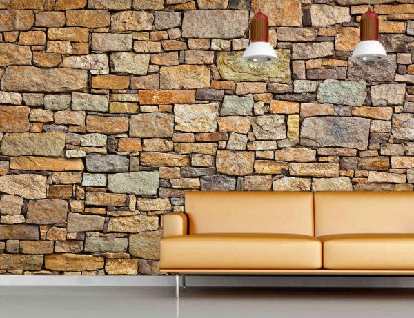Brown Stone Wall 12' x 8' (3,66m x 2,44m)