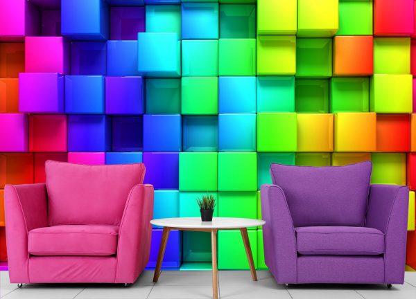Rainbow Cubes 12' x 8' (3,66m x 2,44m)
