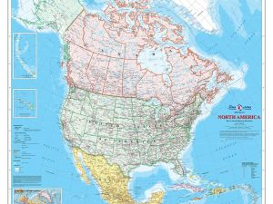 North American Map (English Version) 7.5' x 8.5' (2,29m x 2,59m)