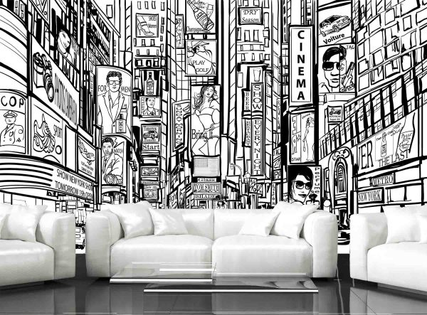 Famous Street in New York City 13.5' x 8' (4,11m x 2,44m)