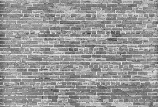 Not Just Another Brick on the Wall (Black and White) 12' x 8' (3,66m x 2,44m)