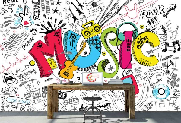 Let's Get Musical (White) 12' x 8' (3,66m x 2,44m)