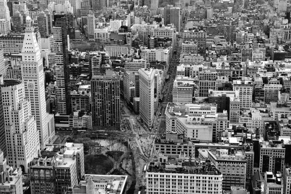 Bird's Eye View of Manhattan, New York 12' x 8' (3,66m x 2,44m)