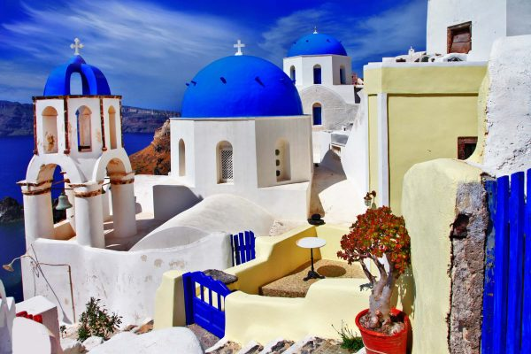Colors of Santorini 12' x 8' (3,66m x 2,44m)