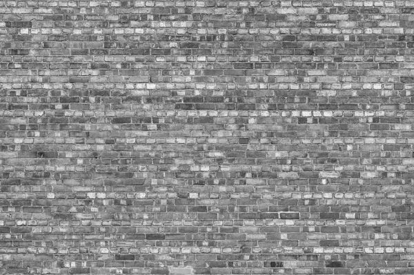 Old Brick Wall (Black and White) 12' x 8' (3,66m x 2,44m)