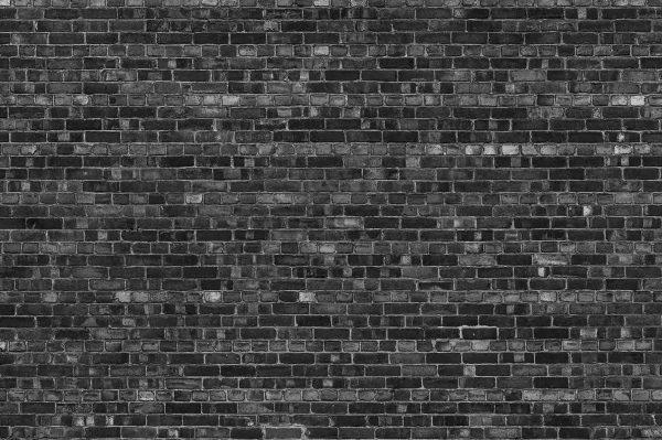 Old Brick Wall (Black) 12' x 8' (3,66m x 2,44m)