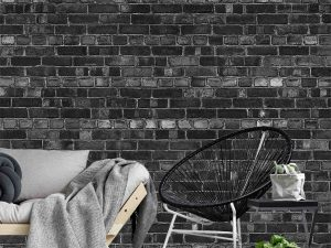 Old Brick Wall (Black) 12' x 8' (3,66m x 2,44m)