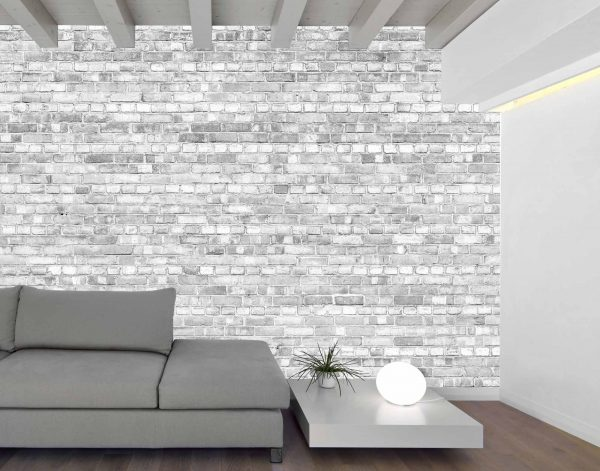 Old Brick Wall (Black and White Lighter Version) 12' x 8' (3,66m x 2,44m)