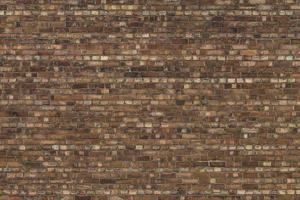 Brown Old Brick Wall 12' x 8' (3,66m x 2,44m)