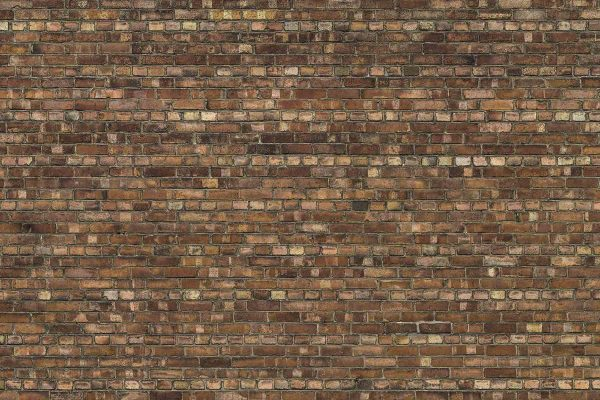 Brown Old Brick Wall 12' x 8' (3,66m x 2,44m)