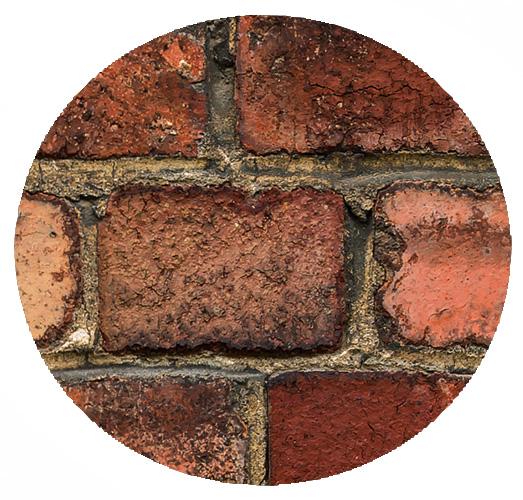 Old Brick Wall 36' x 9' (11,00m x 2,75m)