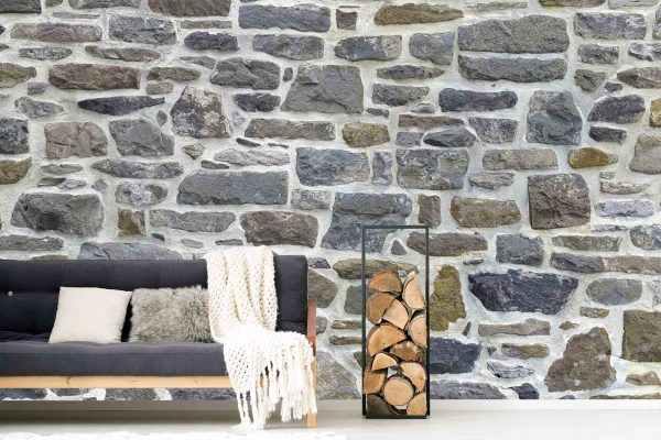 Stone Wall with White Mortar 19.5' x 8' (5,94m x 2,44m)