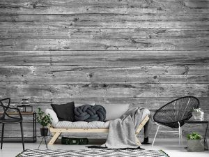 Horizontal Old Barn Wood (Black and White) 12' x 8' (3,66m x 2,44m)