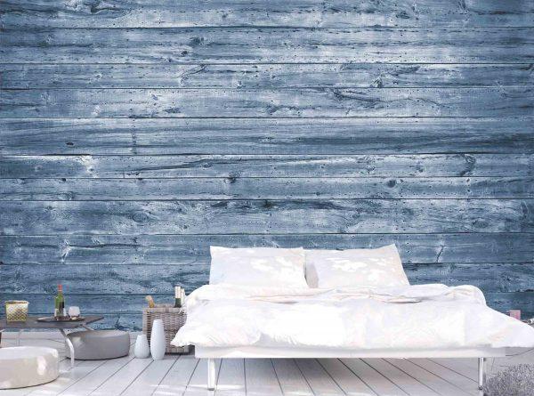Horizontal Old Barn Wood (Blue) 12' x 8' (3,66m x 2,44m)