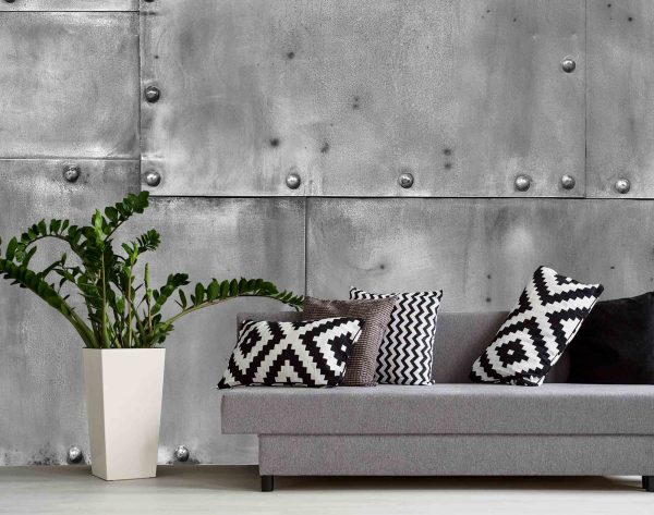 Riveted Metal (Grey) 12' x 8' (3,66m x 2,44m)
