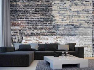 Old Multi Colored Brick Wall 12' x 8' (3,66m x 2,44m)