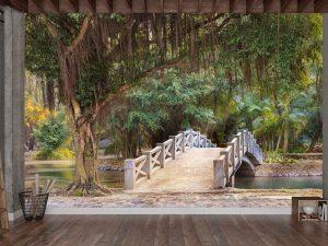 Bridge in a Park near Mua Cave in Ninh Binh, Vietnam 12' x 8' (3,66m x 2,44m)