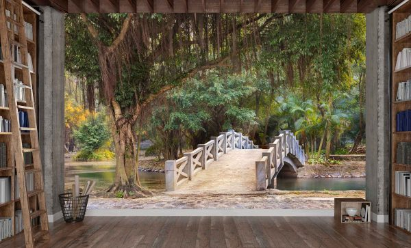 Bridge in a Park near Mua Cave in Ninh Binh, Vietnam 12' x 8' (3,66m x 2,44m)