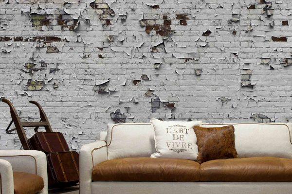 Peeling Paint Brick Wall 18' x 9' (5,50m x 2,75m)