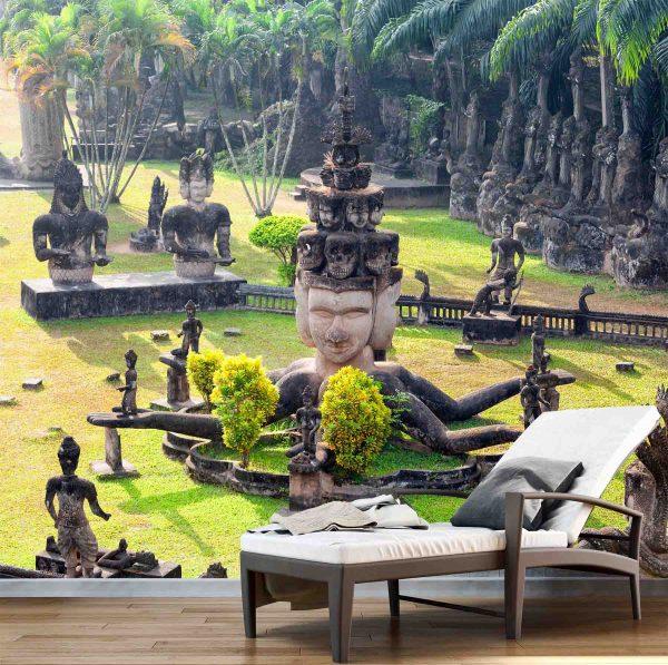 Buddha Park in Vientiane, Laos 9' x 8' (2,75m x 2,44m)