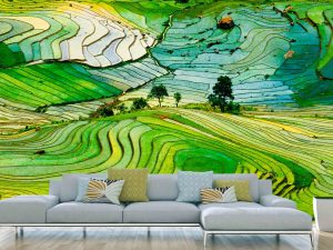 Rice Field in the Province of Lào Cai, Vietnam 12' x 8' (3,66m x 2,44m)
