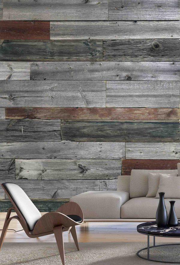 Multicolor Wood Planks 6' x 9' (1,83m x 2,75m)