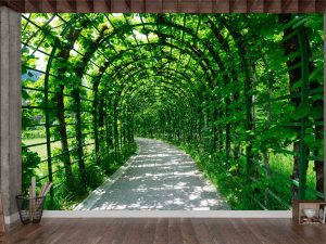 Garden of the Lindenhof Palace in Germany 12' x 8' (3,66m x 2,44m)