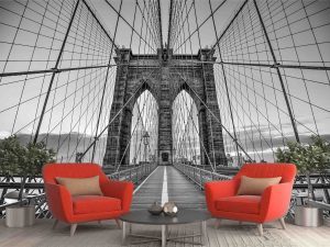 A Walk on the Brooklyn Bridge 12' x 8' (3,66m x 2,44m)